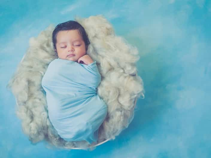 Baby on clouds